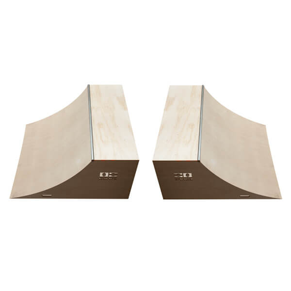 OC Ramps 8 Foot Wide Quarter Pipe Skateboard Ramps - Includes (2) Two Quarter Pipe Ramps