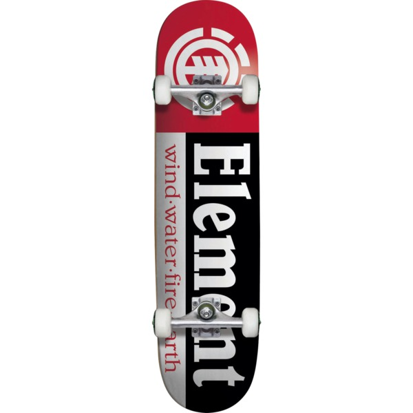 "Element Skateboards Section Black / White / Red Mini Complete Skateboard - 7.37"" x 31.5"""