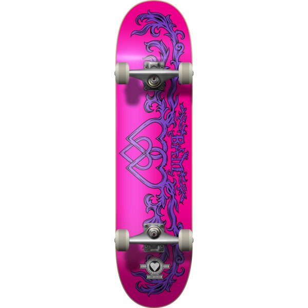 """The Heart Supply Bam Margera Bamily Pink / Purple Complete Skateboard - 7.75"""" x 31.5"""""""