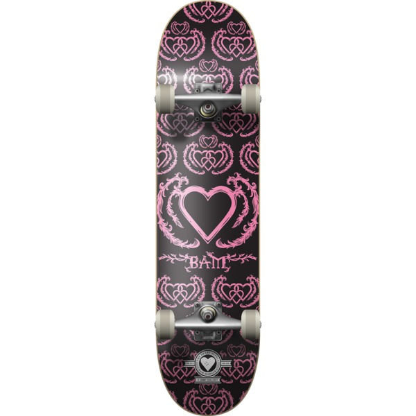 """The Heart Supply Bam Margera United Black / Pink Complete Skateboard - 8"""" x 32"""""""