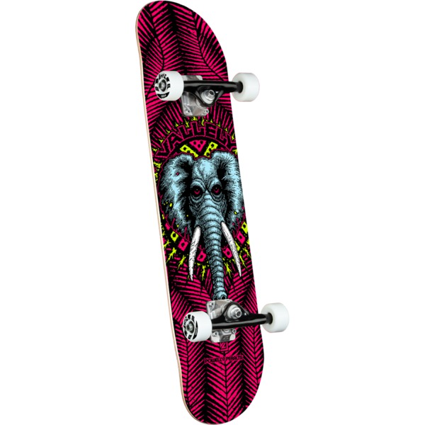 """Powell Peralta Mike Vallely Elephant Pink Complete Skateboard - 8.25"""" x 31.9"""""""