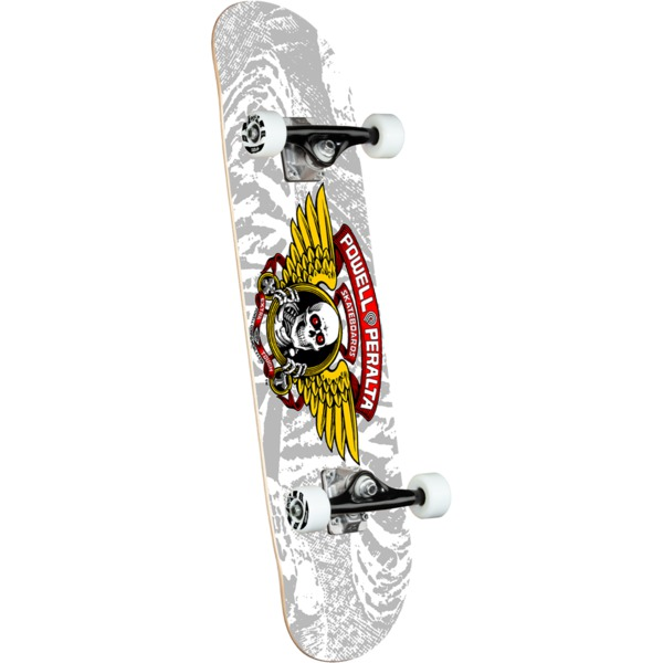 """Powell Peralta Winged Ripper Silver Complete Skateboard - 8"""" x 32.125"""""""