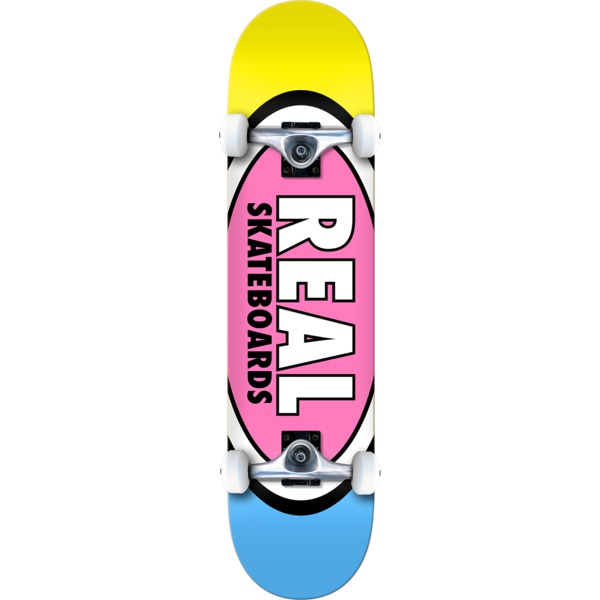"""Real Skateboards Team Edition Oval Mid Complete Skateboards - 7.3"""" x 29.3"""""""
