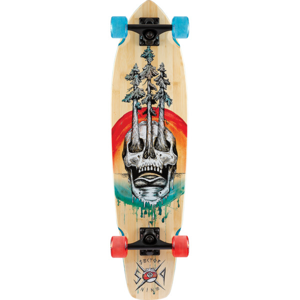 "Sector 9 Bamboo Danger Ft. Point Longboard Complete Skateboard - 8.7"" x 34"""