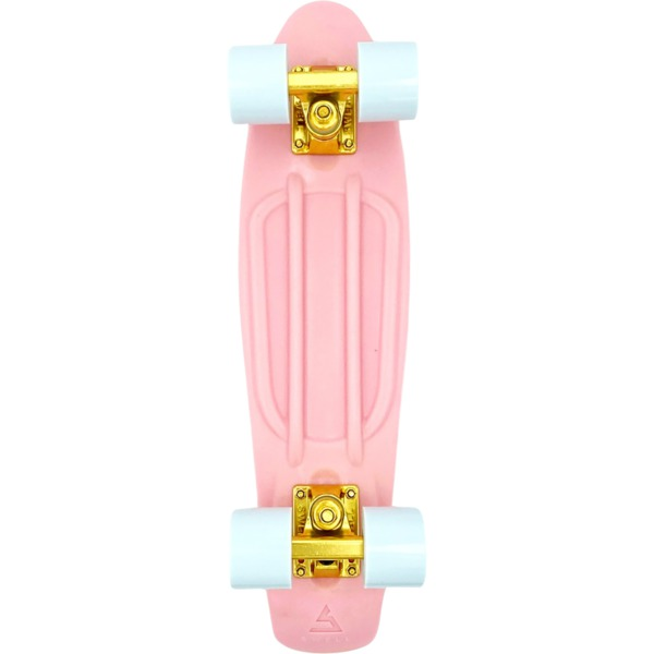 """Swell Skateboards Coral Pink / Gold / White Cruiser Complete Skateboard - 7.25"""" x 28"""""""