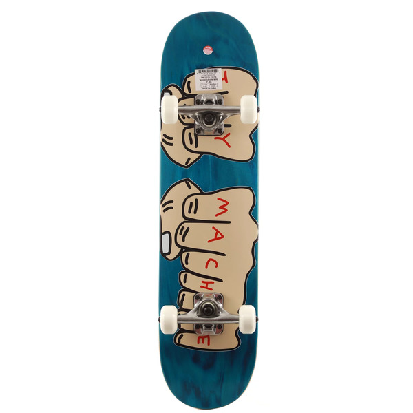 """Toy Machine Skateboards Fists Woodgrain Assorted Colors Mid Complete Skateboards - 7.37"""" x 29.875"""""""
