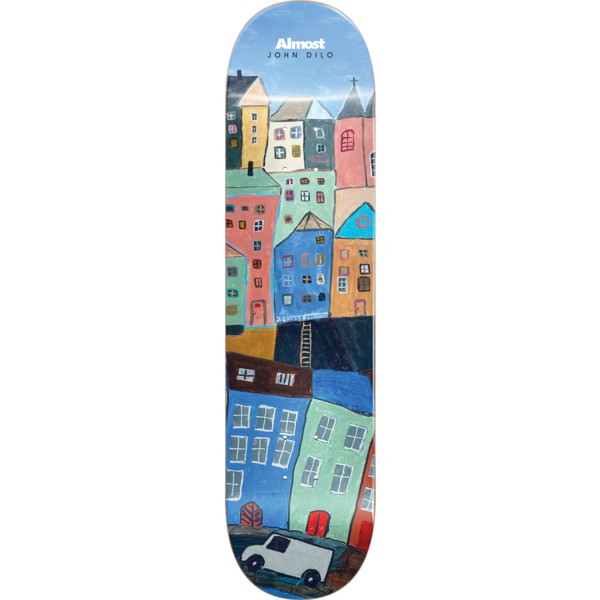 """Almost Skateboards John Dilo Places / Right Skateboard Deck Resin-7 - 8.37"""" x 32.2"""""""