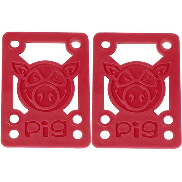 """Pig Wheels Piles Red Riser Pads - Set of Two (2) - 1/8"""""""