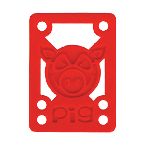 """Pig Wheels Piles Red Shock Pads - Set of Two (2) - 1/8"""""""