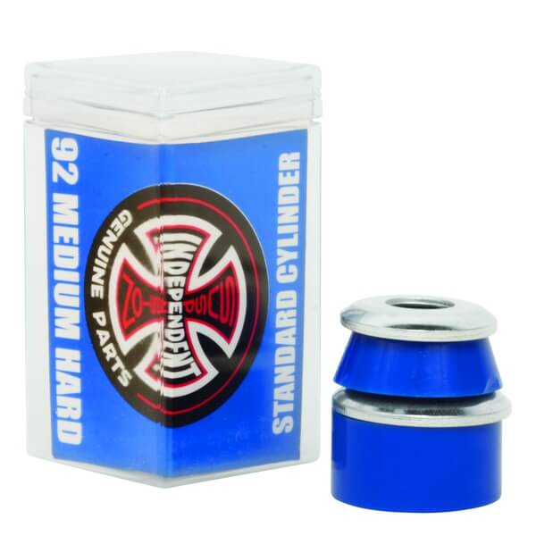 Independent Standard Cylinder Cushions Blue Skateboard Bushings - 2 Pair with Washers - 92a