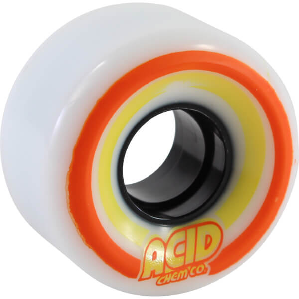 Acid Chemical Wheels Pods Conical White Skateboard Wheels - 55mm 86a (Set of 4)