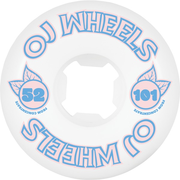 OJ Wheels From Concentrate White Skateboard Wheels - 52mm 101a (Set of 4)