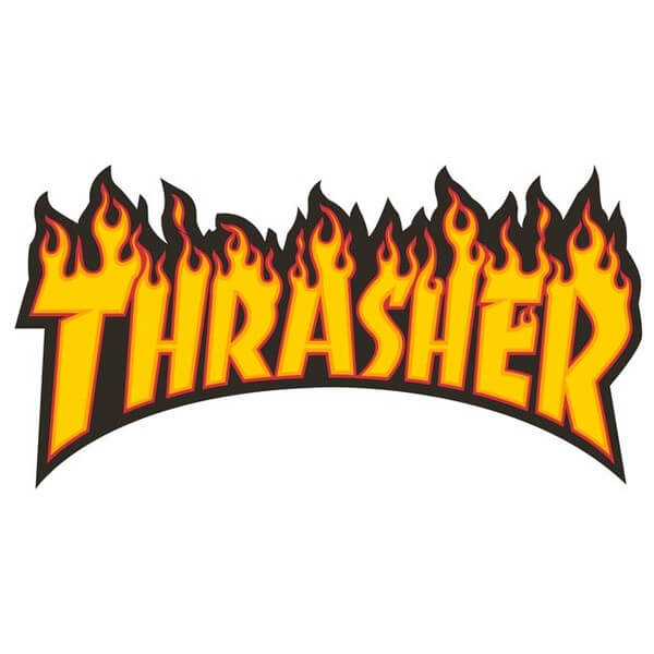 "Thrasher Magazine Flame Logo Large Assorted Colors Skate Sticker - 5 1/2"" x 10 1/4"""