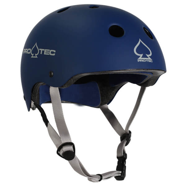 """ProTec Classic CPSC Rubber Blue Skate Helmet - (Certified) - X-Small / 20.5"""" - 21.3"""""""