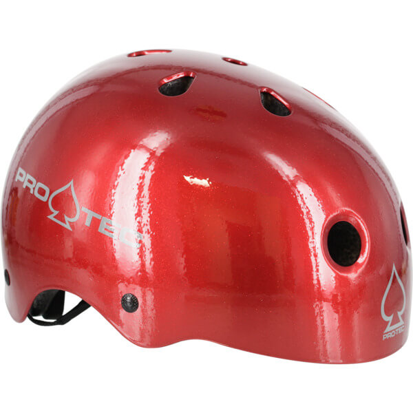 """ProTec Classic CPSC Red Flake Skate Helmet - (Certified) - X-Large / 23.6"""" - 24.4"""""""
