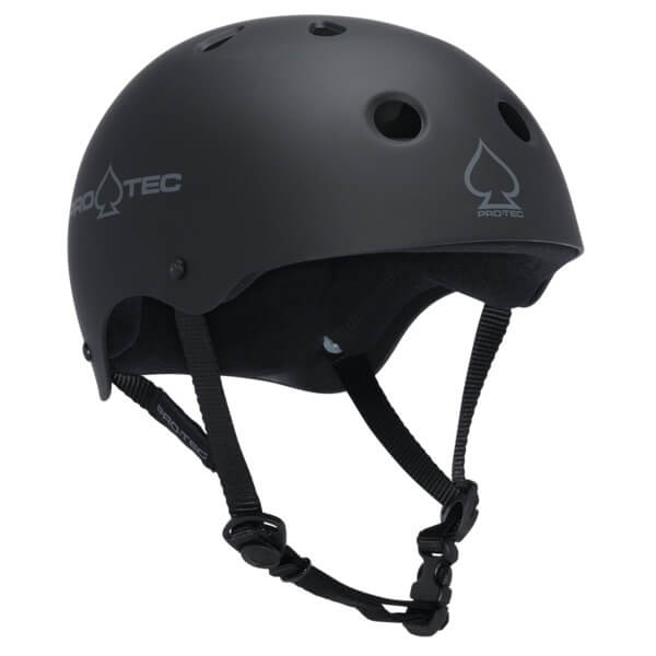 """ProTec Classic CPSC Rubber Black Skate Helmet - (Certified) - Small / 21.3"""" - 22"""""""