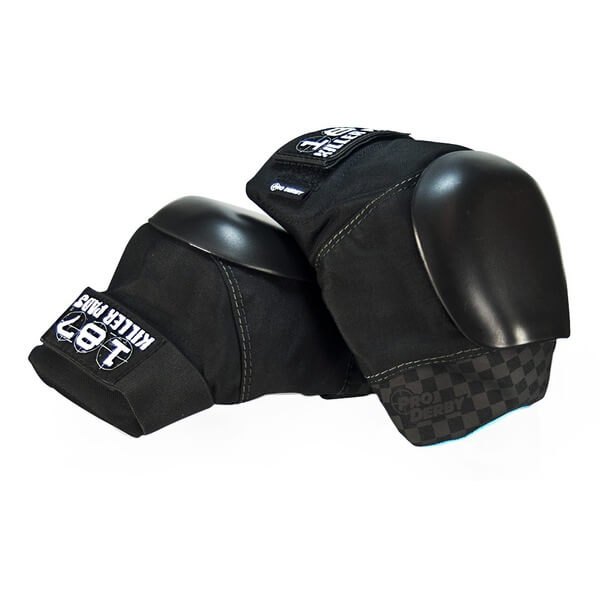 187 Killer Pads Pro Derby Black Knee Pads - Small