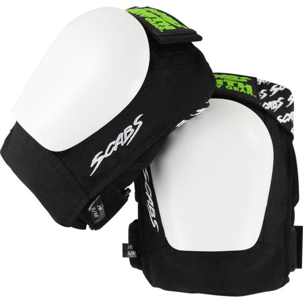 Smith Safety Gear Scabs Junior Black / White Knee Pads - Small / Medium