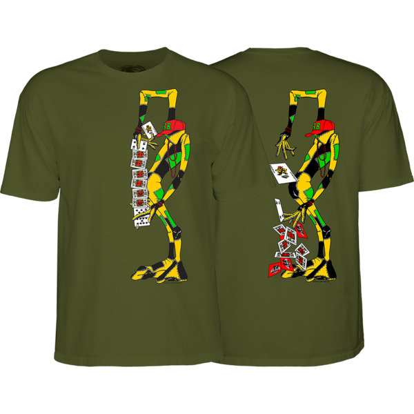 Powell Peralta Ray Barbee Rag Doll Men's Short Sleeve T-Shirt in Military Green