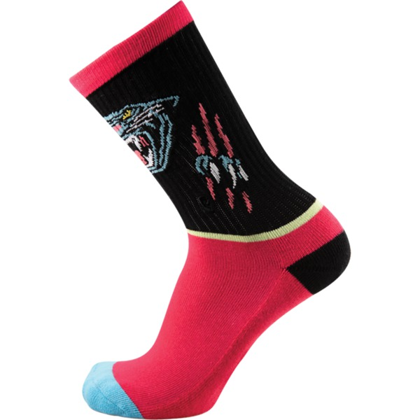 Psockadelic Panther Rip Crew Socks - One size fits most