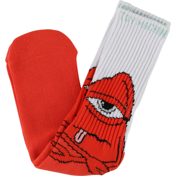 Toy Machine Skateboards Bored Sect White / Orange Crew Socks - One size fits most