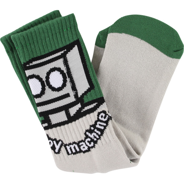 Toy Machine Skateboards Robot Grey / Green Crew Socks - One size fits most