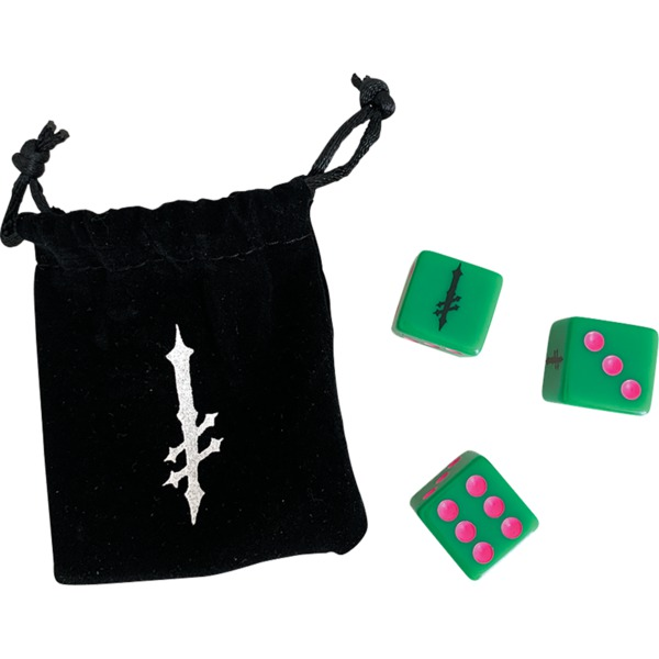 Deathwish Skateboards Roll The Dice Green / Pink Dice Set - 3pcs