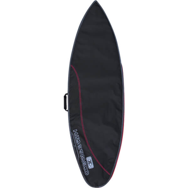 """Ocean & Earth Compact Day Black / Red Shortboard Board Bag - Fits 1 Board - 22.5"""" x 6'"""