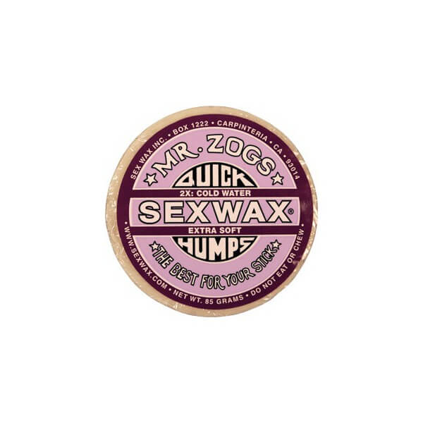 Sex Wax Quick Humps Purple 2X Extra Soft X-Cold to Cool Water Surf Wax