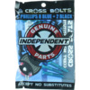 """Independent Cross Philips Head with Tool Black / Blue Skateboard Hardware Set - 1"""""""