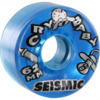 Seismic Skate Systems Cry Baby Clear Blue Skateboard Wheels - 62mm 82a (Set of 4)