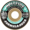Spitfire Wheels Formula Four Conical Full White / Turquoise Skateboard Wheels - 54mm 97a (Set of 4)