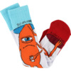 Toy Machine Skateboards Insecurity White / Blue / Orange / Red Crew Socks - One size fits most